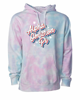 Alpha Omicron Pi Cotton Candy Tie-Dyed Hoodie