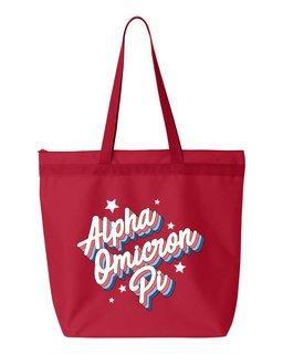 Alpha Omicron Pi Flashback Tote Bag