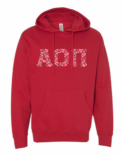 Alpha Omicron Pi Lettered Independent Trading Co. Hooded Pullover Sweatshirt