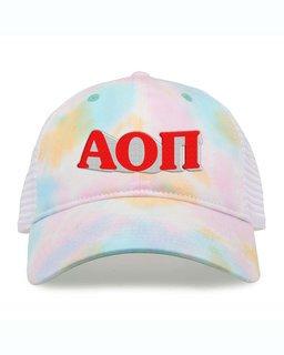Alpha Omicron Pi Sorority Sorbet Tie Dyed Twill Hat