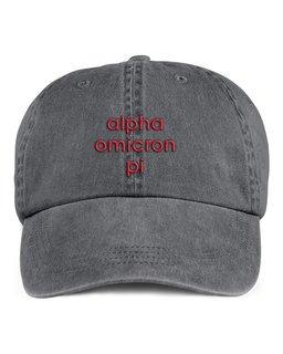 Alpha Omicron Pi Stonewashed Cotton Hats