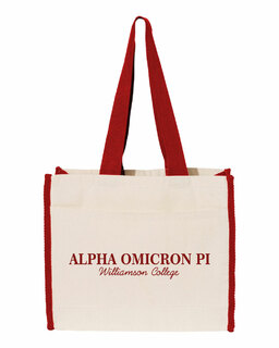 Alpha Omicron Pi Tote with Contrast-Color Handles
