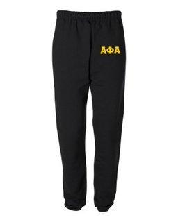 Alpha Phi Alpha Greek Lettered Thigh Sweatpants