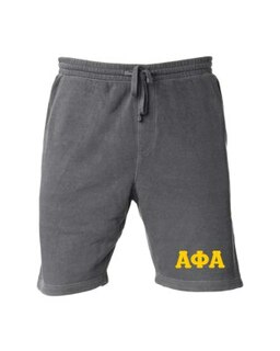 Alpha Phi Alpha Pigment-Dyed Fleece Shorts