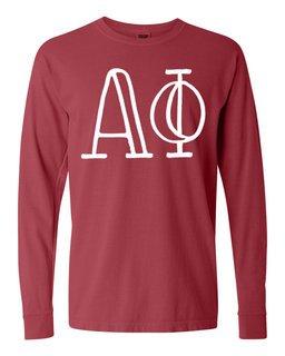 Alpha Phi Comfort Colors Greek Long Sleeve T-Shirt