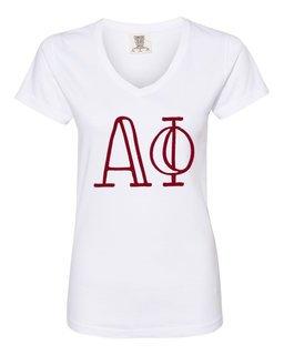 Alpha Phi Comfort Colors V-Neck T-Shirt