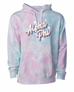 Alpha Phi Cotton Candy Tie-Dyed Hoodie