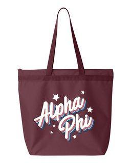 Alpha Phi Flashback Tote bag