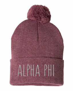 Alpha Phi Mod Pom Pom Beanie