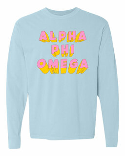 Alpha Phi Omega 3Delightful Long Sleeve T-Shirt - Comfort Colors