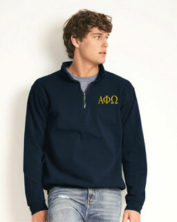 Alpha Phi Omega Comfort Colors Garment-Dyed Quarter Zip Sweatshirt