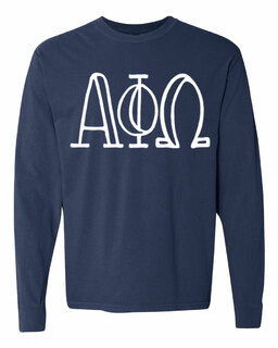 Alpha Phi Omega Comfort Colors Greek Long Sleeve T-Shirt