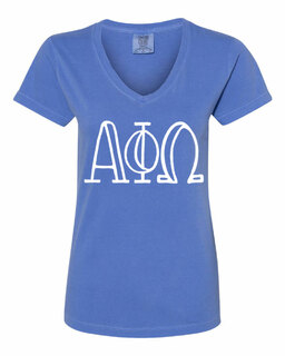 Alpha Phi Omega Comfort Colors V-Neck T-Shirt