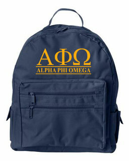 Alpha Phi Omega Custom Text Backpack