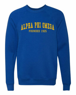 Alpha Phi Omega Fraternity Founders Crew Sweatshirt