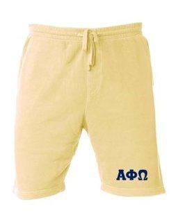 Alpha Phi Omega Pigment-Dyed Fleece Shorts