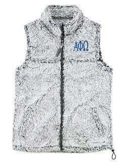 Alpha Phi Omega Smoky Grey Sherpa Vest