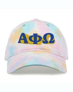 Alpha Phi Omega Sorority Sorbet Tie Dyed Twill Hat