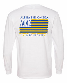 Alpha Phi Omega Stripes Long Sleeve T-shirt