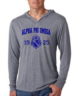 Alpha Phi Omega Unisex Triblend Long-Sleeve Hoodie