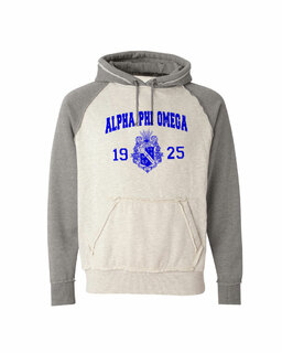 Alpha Phi Omega Vintage Heather Hooded Sweatshirt