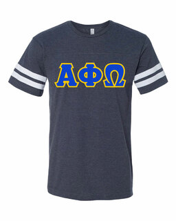 Alpha Phi Omega World Famous Greek Twill Football Fine Jersey Tee
