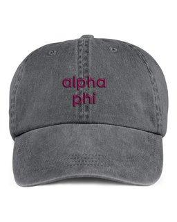 Alpha Phi Stonewashed Cotton Hats