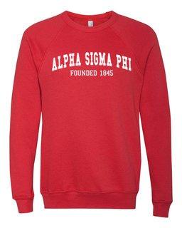 Alpha Sigma Phi Fraternity Founders Crew Sweatshirt