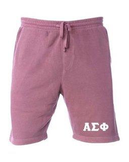 Alpha Sigma Phi Pigment-Dyed Fleece Shorts