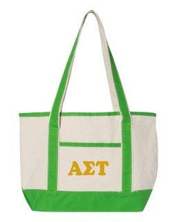 Alpha Sigma Tau Sailing Tote Bag