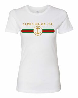 Alpha Sigma Tau Boyfriend Golden Crew Tee