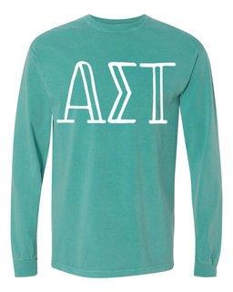 Alpha Sigma Tau Comfort Colors Greek Long Sleeve T-Shirt