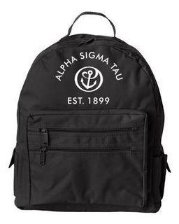 DISCOUNT-Alpha Sigma Tau Crest - Shield Mascot Backpack