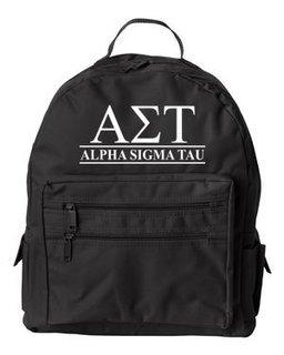 Alpha Sigma Tau Custom Text Backpack