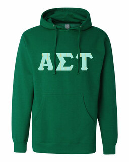 Alpha Sigma Tau Lettered Independent Trading Co. Hooded Pullover Sweatshirt