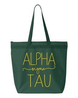 Alpha Sigma Tau New Handwriting Tote Bag