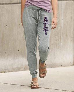 Alpha Sigma Tau Be All Stretch Terry Sorority Pants