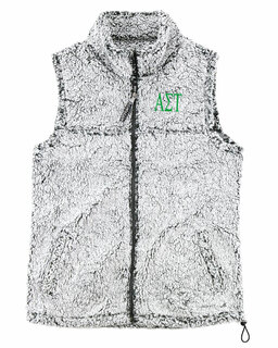 Alpha Sigma Tau Smoky Grey Sherpa Vest