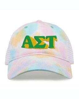 Alpha Sigma Tau Sorority Sorbet Tie Dyed Twill Hat