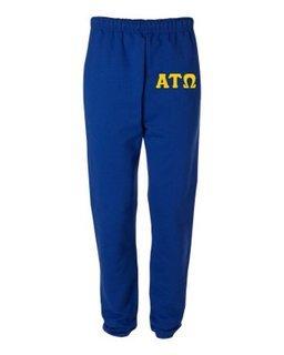 Alpha Tau Omega Greek Lettered Thigh Sweatpants