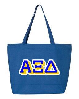 Alpha Xi Delta 3D Letter Tote Bag