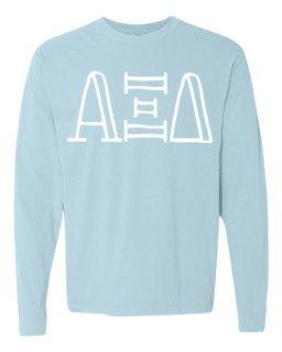 Alpha Xi Delta Comfort Colors Greek Long Sleeve T-Shirt