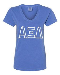 Alpha Xi Delta Comfort Colors V-Neck T-Shirt