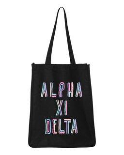 Alpha Xi Delta Jumbo All In Tote Bag