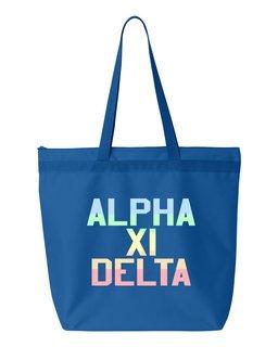 Alpha Xi Delta Pastel Tote Bag