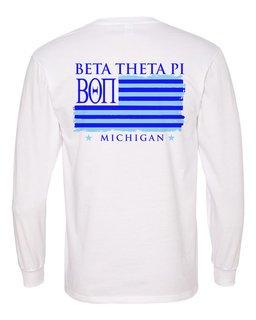 Beta Theta Pi Stripes Long Sleeve T-shirt