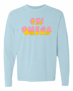 Chi Omega 3Delightful Long Sleeve T-Shirt - Comfort Colors