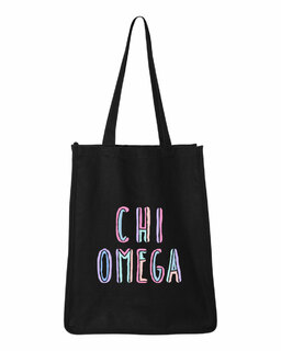 Chi Omega Jumbo All In Tote Bag