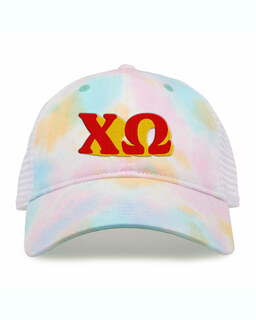 Chi Omega Sorority Sorbet Tie Dyed Twill Hat