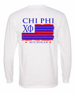 Chi Phi Stripes Long Sleeve T-shirt